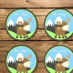 Moose Baby Shower Cupcake Toppers - Unique Baby Shower Toppers - Printable Moose Baby Shower It's a Boy Cupcake Toppers Instant Download - http://babyshowercupcake-toppers.com/moose-baby-shower-cupcake-toppers-unique-baby-shower-toppers-printable-moose-baby-shower-its-a-boy-cupcake-toppers-instant-download/