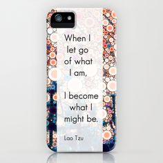 Daily Meditation Quote iPhone & iPod Case by Olivia Joy StClaire - $35.00 abstract phone case, typography, modern art, quote, zen, yoga, Lao Tzu, motivational, inspirational