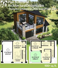 Tiny House Design, Modern House Design, Small Modern House Plans, Modern Garage, Sims 4 Modern House, Tiny Home Floor Plans, Micro House Plans, Loft Floor Plans, Unique House Plans