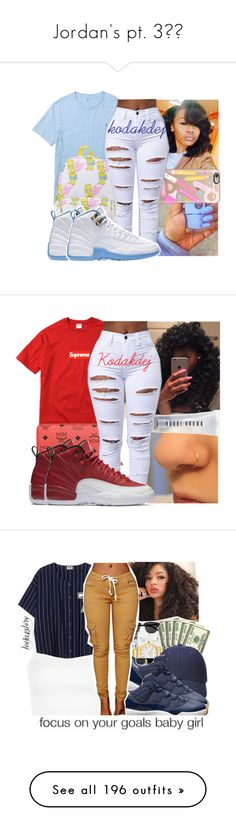 """Jordan's pt. 3"" by trxll-qxeen ❤ liked on Polyvore featuring Ralph Lauren, Casetify, Champion, MCM, Bobbi Brown Cosmetics, NIKE, WearAll, MICHAEL Michael Kors, Retrò and Miss Selfridge"