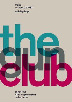 the gun club at hot klub, 1982