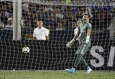 Casilla reacts after the Real goalkeeper was beaten by Stones's strike into the bottom corner of his net