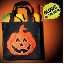 halloween bag for trick a treat it glow in the dark that good for safety reason