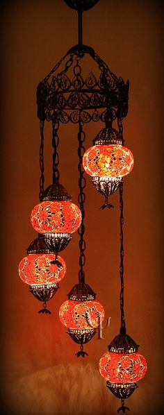 Turkish mosaic chandelier - In room lighting, but in Blue Chandeliers, Chandelier Lighting, Morrocan Chandelier, Moroccan Lighting, Lighting Manufacturers, Lamp Light, Orange Color, Light Fixtures, Stained Glass