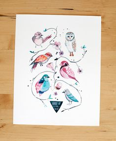 Birds of the Wild Print