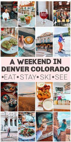 Weekend in Denver, Colorado: Where to Eat, Explore & Ski - Simply Taralynn - Travel tips - Travel tour - travel ideas Weekend In Denver, Denver Vacation, Denver Travel, Travel Usa, Travel Oklahoma, Colorado Winter, Visit Colorado, Colorado Trip, Skiing In Denver Colorado
