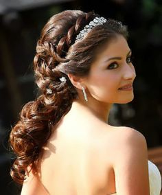 indian hairstyles with gown - Google Search