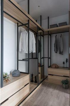 Walk In Closet Design, Bedroom Closet Design, Master Bedroom Closet, Closet Designs, Bedroom Black, Modern Wardrobe Designs, Bathroom Closet, Walking Closet, Bedroom Wardrobe