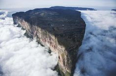 It might look like it's straight out of a sci-fi movie, but this natural wonder is completely real and fully awe-inspiring. Mount Roraima, one of the most mysterious and alluring mountains in the world, is like a prehistoric island in the sky.    Explore Mount Roraima ... a truly unique place with a magic of its own! — Mount Roraima, Venezuela