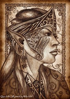 "Queen of elves.""Self-portrait"" by Akadio.deviantart.com on @deviantART"