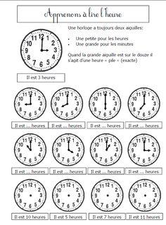 apprenons à lire l'heure