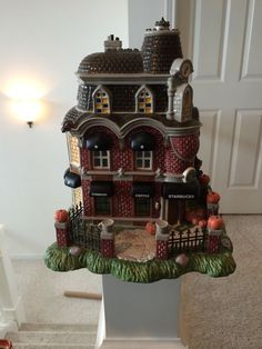 rare dept 56 starbucks haunted halloween house