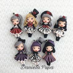 Ci saranno anche queste #Gothiclolita al #mercatinogiapponese di domenica 4 Dicembre @ Caffè Letterario , via Ostiense 95, #Roma . Vi aspettiamo! ♥️♥️♥️ . . . #danielapupa #polymerclay #doll #dollstagram #fimodoll #fimo #clay #jewels