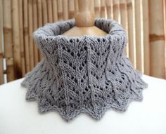 Ravelry: Hanois Cowl pattern by Martine Ellis Knit Cowl, Knitted Shawls, Crochet Scarves, Crochet Shawl, Knit Crochet, Knit Lace, Caron Yarn, Sock Yarn, Lace Knitting