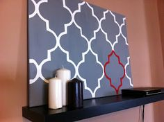 the young{est} at heart: DIY Canvas Art... with a Stencil