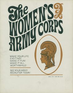 Sec Korea/VietnamThe Women's Army Corps, 1968 - The Betty H. Army Day, Us Army, Vietnam Veterans, Vietnam War, Women's Army Corps, Military Careers, Political Posters, Army Women, Oral History