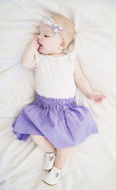 Lavender Skirt - infant, toddler, fashion, spring, easter, summer, purple