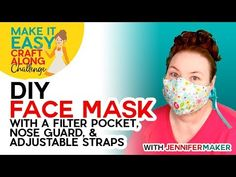 DIY Face Mask Filter Materials: What to Use, What to Avoid - Jennifer Maker mask pattern with filter pocket free printable Easy Face Masks, Homemade Face Masks, Diy Face Mask, Sewing Hacks, Sewing Tutorials, Sewing Patterns, Sewing Projects, Sewing Stitches, Sewing Ideas