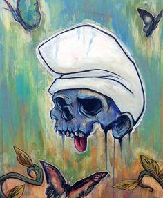 ☆ Smurfin -::- Artist Eric Pineda ☆ Art Sketches, Art Drawings, Street Art, Theme Halloween, Tatoo Art, Arte Horror, Skull Design, Skull Tattoos, Skull And Bones