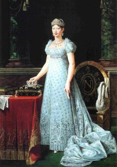 Marie Louise of Austria, Empress of #France; portrait by Lefevre: #Parma #Italy #travel #design #literature #Empire