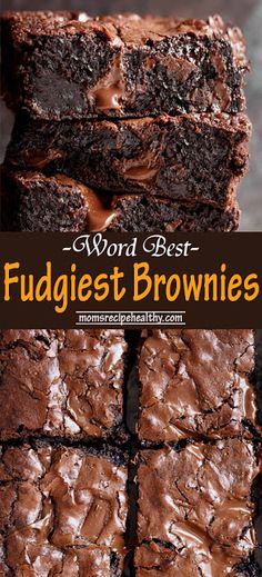 Worlds Best Fudgiest Brownies Recipes {+video} & Best Fudgiest Brownies is my best brownie recipe! perfect crisp crackly top, super fudgy centre, chewy or gooey in all the right places, studded with melted chunks of & Brownies Caramel, Chocolate Fudge Brownies, Chewy Brownies, Brownie Desserts, Chocolate Chocolate, Dessert Chocolate, Brownie Cheesecake, Brownie Cookies, Chocolate Cheesecake