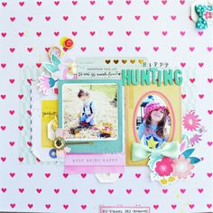 #papercraft #scrapbook #layout.  Inspiration du Jour - Happy Hunting bt elizgardner
