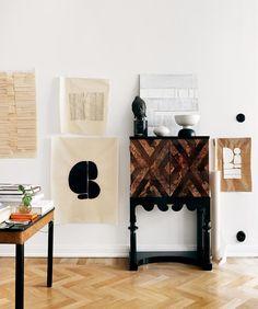 Estilo Interior, Home Interior, Interior Design, Elle Decor, Scandinavian Style, Minimal Apartment, Chevron Floor, Creative Home, First Home