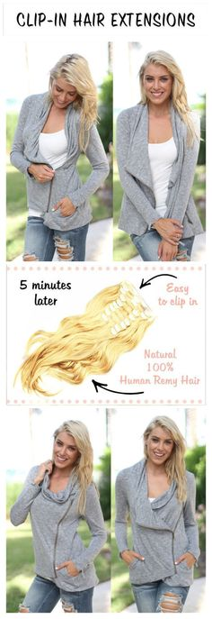 Make a dramatic hairstyle change with #Besthairbuy 100% human Remy clip-in hair extensions. You can add length and volume in a matter of minutes and you get to choose the color, length and weigh. Can be cut, colored and heat styled. Free returns and exchanges, worldwide delivery. They work for really short hair too and properly blended they are undetectable! Click to get 25% off on your first order --Pin by #Besthairbuy shop
