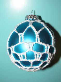 Simply Crochet and Other Crafts: Brick Fireplace Covered Christmas Ornament