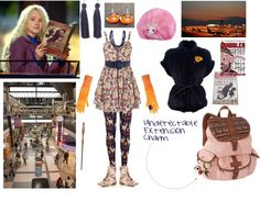 """luna lovegood flying to finland for xmas"" by homerthechunylover ❤ liked on Polyvore"
