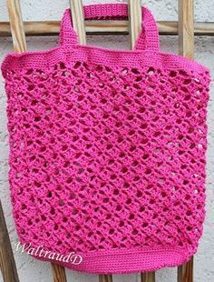 Another shopping network is ready. Since for me plastic bags are out of the question … – Knitting – Crochet Knitting Websites, Knitting Blogs, Knitting Patterns, Crochet Patterns, Purse Patterns, Crochet Slippers, Knit Crochet, Crochet Tote, Mochila Crochet