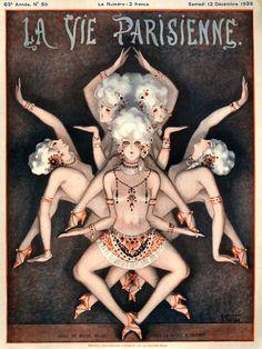 La Vie Parisienne December 12, 1925 Illustration by Armand Vallee