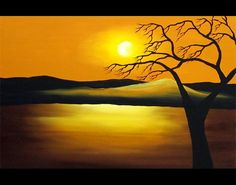 sunset at heaven painting