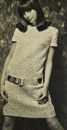 Geez yes. Crochet 1960's. Few women had the guts to wear this in public. Mostly this kind of thing was limited to pattern pictures for projects that were never completed.