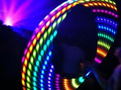 Moodhoops Neon LED Hula Hoop  doubleplusawesome:    Hooping at Porter Robinson in Charlotte, NC last night!