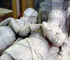 The Fitzwilliam family has two tombs from the 15th century. One is a knight from the battle of Agincourt. Other medieval tomb stones include a double semi-effigial figure and one of a huntsman.