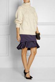 Oscar de la RentaChunky-knit alpaca-blend turtleneck sweater