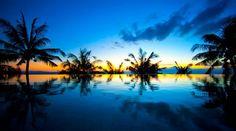 Tramonto suggestivo sull isola di Lombok
