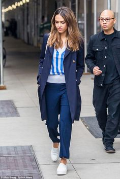 Feeling blue? Jessica Alba looked a little less than her normal merry self as she was spotted out and about in New York City on Thursday