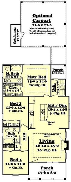 Cottage Style House Plan   3 Beds 2.00 Baths 1375 Sq/Ft Plan #430 41