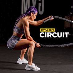This battle rope workout is the best way to build strength and tone your muscles. Gym Workout Videos, Gym Workout For Beginners, Fitness Workout For Women, Body Fitness, Gym Workouts, Fitness Tips, Workout Plans, Workout Circuit, Workout Men