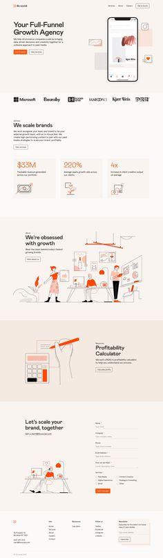 One Pager Design, Footer Design, Layout Design, Website Proposal, Website Illustration, Business Proposal Template, Ui Web, Creative Colour, Landing Page Design