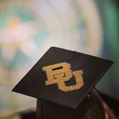 Perfect Baylor graduation cap!