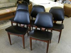 Set of 4 + 1 Funky Retro G Plan Chairs GC --------------------------- £100  (PC315) 5th chair slightly different style