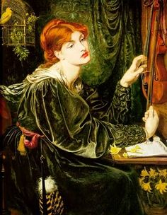 On the wall: IMAGINA Y CREA: The Music Lesson, paintings - This one by Dante Gabriel Rossetti