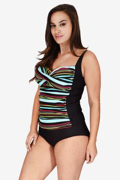 49a41a395f2b4 Ruched Twist Front Women s Plus Size Tankini Top