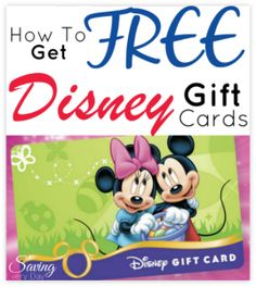 how to get free disney gift cards