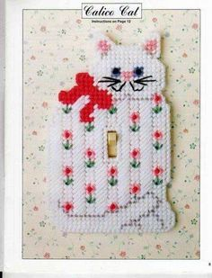 Plastic Canvas Switch Plate Cover Patterns by scarlettess Plastic Canvas Ornaments, Plastic Canvas Crafts, Plastic Canvas Patterns, Canvas 5, Canvas Frame, Crochet Cat Pattern, Switch Plate Covers, Switch Plates, Spring Projects