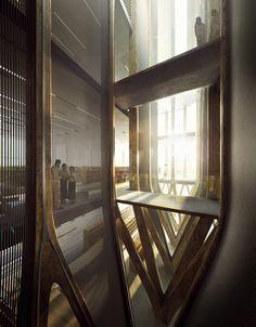 Zaha Hadid diseña cinco torres de madera para albergar el Instituto de Genocidio Camboyano.