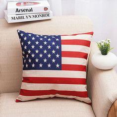 USA Flag Pillow Cover